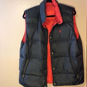 Reversible Polo Vest Men's L